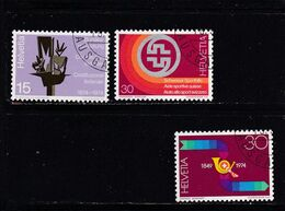 Schweiz, Nr. 1039/41, Gest. (T 17816) - Usati