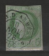Colonies Générales N°17 Oblitéré COR.D.ARMEES / HUE S/petit Frag. - Ceres