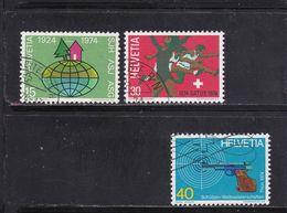 Schweiz, Nr. 1017/19, Gest. (T 17818) - Usati