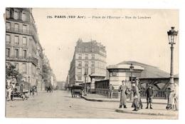 75 PARIS - 8ème, Place De L'Europe, Rue De Londres - Arrondissement: 08