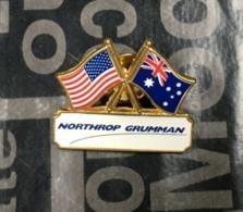 (Pins) Australia  - USA (nation's Friendship Pin With Northrop Grumman In White) - Militair & Leger