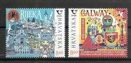 CROATIA 2020, JOINT ISSUES HRVATSKA CROATIA IRELAND,TOWN RIJEKA,GALWAY,MNH - Croacia