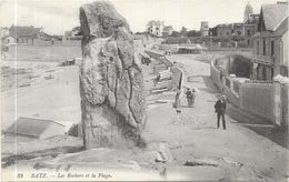 BATZ : LES ROCHERS ET LA PLAGE - Batz-sur-Mer (Bourg De B.)