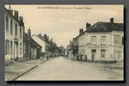 La Bazoche Gouet Entre Montmirail Et Brou Entrée De La Ville Par L'ouest CAFE REMY (scan Recto-verso) FRCR00029P - Autres Communes