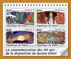 NIGER 2018 - Gustav Klimt - Mi 5808-11 - Modernos