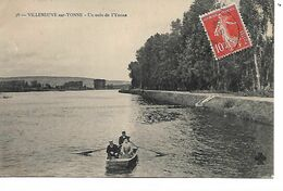 89 - VILLENEUVE SUR YONNE - Un Coin De  L'Yonne (Petite Animation, Barque) - Villeneuve-sur-Yonne