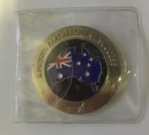 (Pins) Australia - USA - Lockheed Martin Badge (21012) Weight 55 G - Militair & Leger
