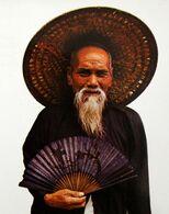HONG KONG Folklore Costume Chapeau éventail Vieil Homme Old Man At Lukmachow Fan Hat - Asien