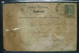 LetDoc. 301. Armoiries, 5c Vert N°56 . Oblitération Bruxelles (R. Du Taciturne) 19-nov-1904 Sur CP - 1893-1907 Armoiries