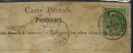 LetDoc. 305. Armoiries, 5c Vert N°56 . Oblitération Bruxelles (R. Du Taciturne) 4-mars-1904 Sur CP Caserne Des Carabinie - 1893-1907 Armoiries