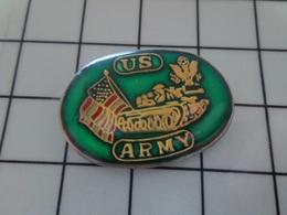 420 Pin's Pins / Beau Et Rare / THEME : MILITARIA / US ARMY CHAR BLINDé DRAPEAU - Militair & Leger
