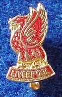 LIVERPOOL , ENGLAND FOOTBALL CLUB , ENAMELED PIN BADGE - Fútbol