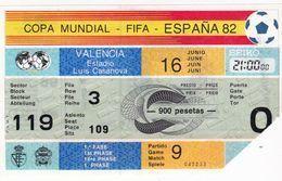 España Entrada De Futbol ESPAÑA 82 - Eintrittskarten