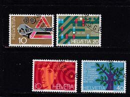 Schweiz, Nr. 964/67, Gest. (T 17828) - Usati