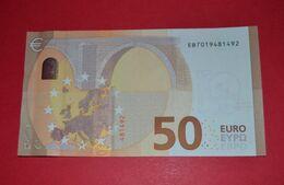 50 EURO FRANCE (oberthur)- E012D5 - EB7019481492 - UNC DRAGHI - EURO