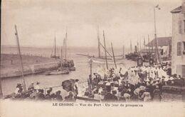 44-LE CROISIC VUE DU PORT UN JOUR DE PROCESSION - Francia