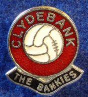 CLYDEBANK, SCOTTISH FOOTBALL CLUB , ENAMELED PIN BADGE - Fútbol