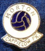 MORTON , SCOTTISH FOOTBALL CLUB , ENAMELED PIN BADGE - Fútbol