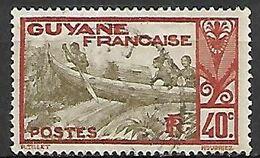 GUYANE    -     1929.   Y&T N° 118 Oblitéré .  Piroguiers - Guyane Française (1886-1949)
