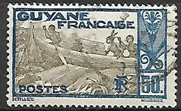 GUYANE    -     1929.   Y&T N° 120 Oblitéré .  Piroguiers - Guyane Française (1886-1949)