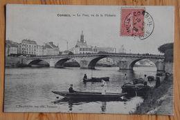 91 : Corbeil - Le Pont Vu De La Pêcherie -  Animée : Pêcheurs à La Ligne - (n°18309) - Corbeil Essonnes