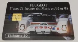 Télécarte - PEUGEOT - 24 Heures Du Mans En 92 Et 93 - Cars