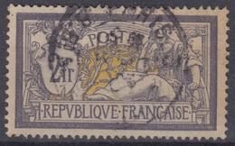 FRANCE : MERSON 2Fr VIOLET & JAUNE N° 122 OBLITERE - TB CENTRAGE - COTE 180 € - 1900-27 Merson