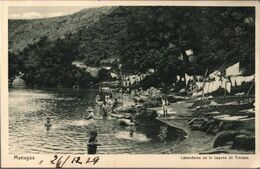 !  Alte Ansichtskarte, Laguna De Tiscapa, Managua, Nicaragua, 1929, Druck: Knackstedt, Hamburg, - Nicaragua
