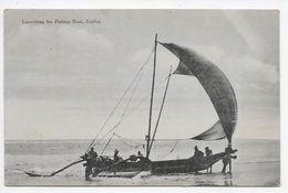 Launching The Fishing Boat, Ceylon - John & Co - Sri Lanka (Ceylon)