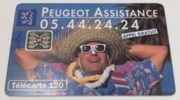 Télécarte - PEUGEOT - Assistance - Cars