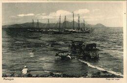 !  Alte Ansichtskarte, Playa Del Lago, Managua, Nicaragua, 1929, Druck: Knackstedt, Hamburg, - Nicaragua