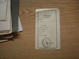 Prijemnica Za Telegram Novi Sad - 1945-1992 République Fédérative Populaire De Yougoslavie