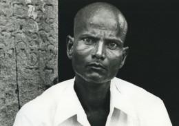 Indonésie Portrait Masculin Chauve Ancienne Photo Defossez 1970's - Ethniques, Cultures