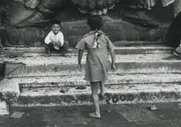 Nepal Katmandou Jeunes Enfants Ancienne Photo Defossez 1970's - Ethniques, Cultures