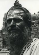 Inde Sadhu Portrait Ancienne Photo Defossez 1970's - Ethniques, Cultures