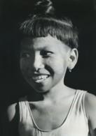 Birmanie Pagan Portrait De Jeune Fille Ancienne Photo Defossez 1970's - Ethniques, Cultures