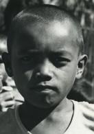 Indonesie Sumatra Porsea Portrait De Jeune Garçon Ancienne Photo Defossez 1970's - Ethniques, Cultures