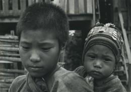 Asie Thailande Chiang Rai Jeunes Garçons Portrait Ancienne Photo Defossez 1970's - Ethniques, Cultures