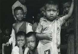 Birmanie Mandalay Portrait D'enfants Ancienne Photo Defossez 1970's - Ethniques, Cultures