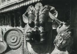 Inde Temple Sculpture Etude Ancienne Photo Defossez 1970's - Ethniques, Cultures