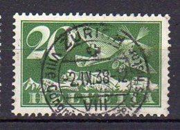 SUISSE     Oblitéré     Y. Et T.   PA N° 4    Cote: 4,00 Euros - Posta Aerea
