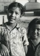 Nepal Katmandou Jeunes Filles Portrait Ancienne Photo Defossez 1970's - Ethniques, Cultures