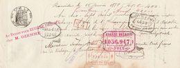 LETTRE DE CHANGE JOSEPH LASVIGNES SALIES DE SALAT HTE GAR 1889 TIMBRE FISCA SEC - EUGENE DELRIEU FOIX- - Bills Of Exchange