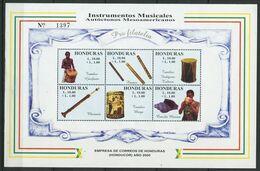 271 - HONDURAS 2000 - Yvert BF 60 - Instrument Musique - Neuf ** (MNH) Sans Trace De Charniere - Honduras