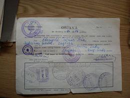 Objava Za Putovanje Zeleznicom Train Railway - 1945-1992 Socialist Federal Republic Of Yugoslavia