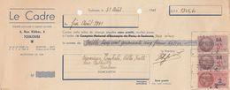 LDC - LE CADRE TOULOUSE 1941 + FISCAL X3 - Bills Of Exchange