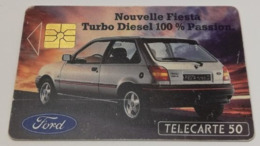 Télécarte - FORD - Fiesta - Cars