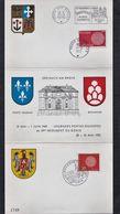 France - Triptyque De Cartes Postales 31/5/1970 Portes Ouvertes Du 10ème Régiment Du Génie - Oblitérées Poste Aux Armées - Non Classés