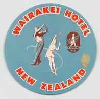 """010906 """"NEW ZEALAND - WAIRAKEI HOTEL""""  ETICHETTA  GOMMATA ORIGINALE - ORIGINAL LABEL - Etiketten Van Hotels"""