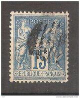 "Type SAGE N° 101 , 15 C Bleu Avec Oblitération "" Bouchon ""  , TB - 1876-1898 Sage (Type II)"